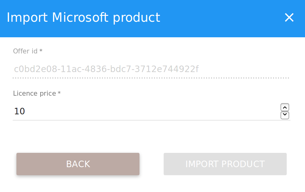 Import microsoft product