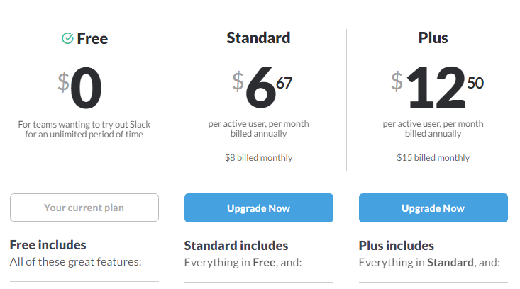 Pricing Models: pay per user model